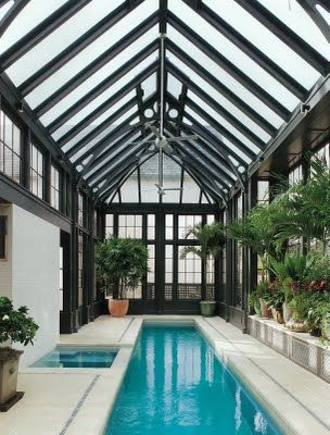 Swimming greenhouses and haus on pinterest for Swimming pool greenhouse