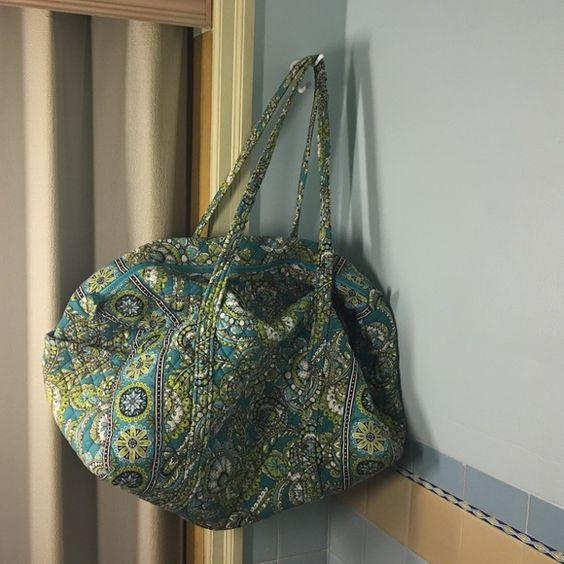 Large Vera Bradley Duffel Large Vera Bradley duffel bag (cross posted) Vera Bradley Bags Travel Bags