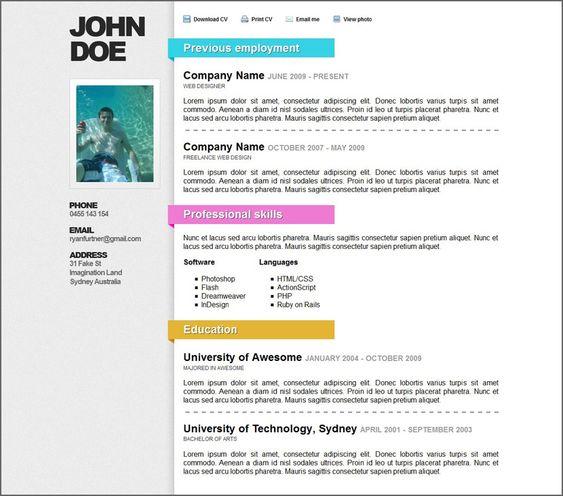 Creative Modern Resume Templates  HttpWwwResumecareerInfo