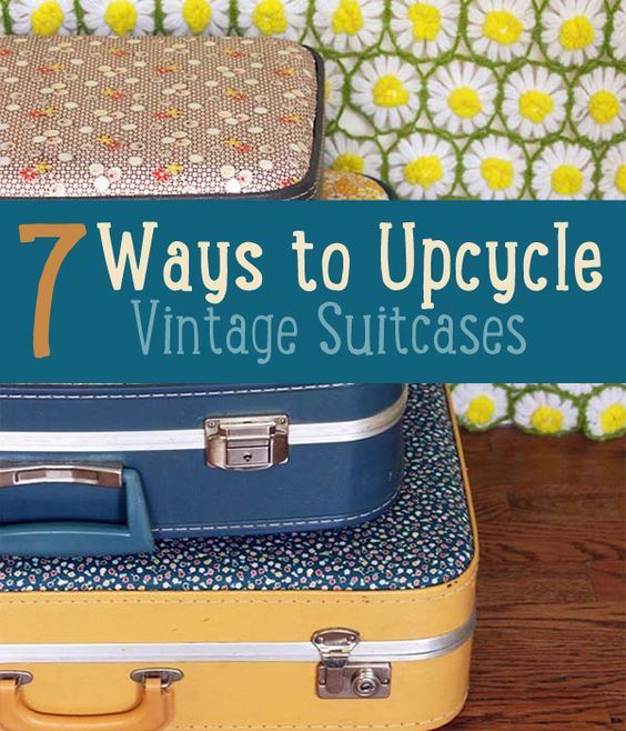 Vintage suitcases, Suitcases and Upcycle