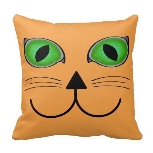 Orange Cat Face бросить подушку