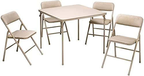 Best Seller Cosco 5 Piece Folding Table Chair Set Tan Online Prettyfashionclo In 2020 Folding Table Tan Furniture Table And Chair Sets