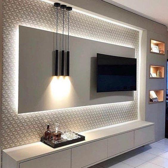 Die Perfekte Fernsehwand überrascht Die Gäste Designideas Designinspiration Designlovers Designers In 2020 Wohnzimmer Modern Wohnzimmer Gestalten Tv Wand Wohnzimmer