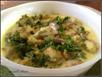 another Gujarati dish   The first time I had rasiya muthia was when my mother in law (Nunu) made them. I fell in love with the dish. Nunu...