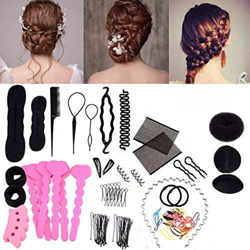 Xidaje Exquisite 20 Types Hair Styling Clip Hairpin Hair Comb Band Twist Tool Bun Maker Hair Braiding Tool Hair Pins Hair Tools