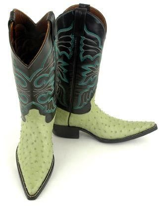 Rioja cowboy boots in Pistachio, how fun for spring!