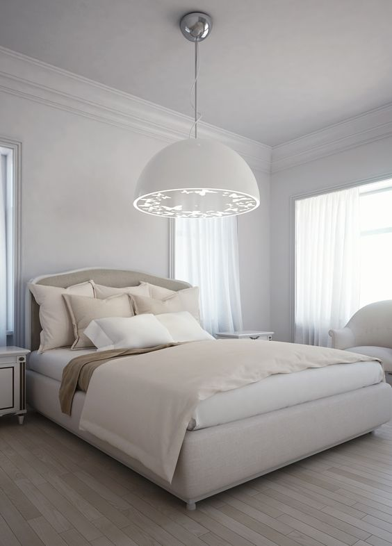 The Perfect Romantic Lighting For The Bedroom. A Contemporary Cottage Style  Bedroom With Modern Lighting. The Fabu2026 | Pinteresu2026