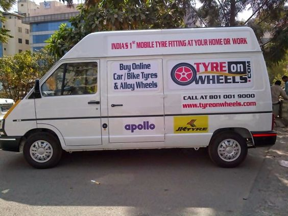 Buy Car Tyres and Bike Tyres Online: First Mobile Tyre Fitting Service Launched in Indi...