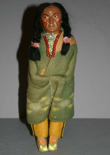"12 "" adult Skookum doll. He looks so concerned. I love the expressions on these dolls. /eBay"