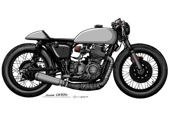🏁 caferacerpasion.com 🏁 Honda #CafeRacer design by TomaszKobus [TAGS]…