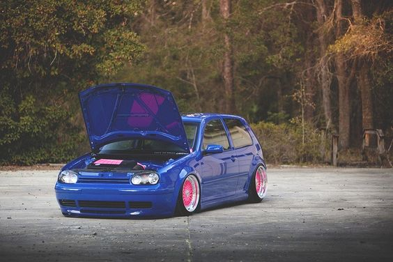 Pink and navy are in. MK4 Golf