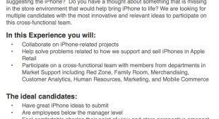 Apple will Ideen von Mitarbeitern für iPhone-Verkauf