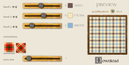 Tartan Maker - Generate tartans using your own color palette