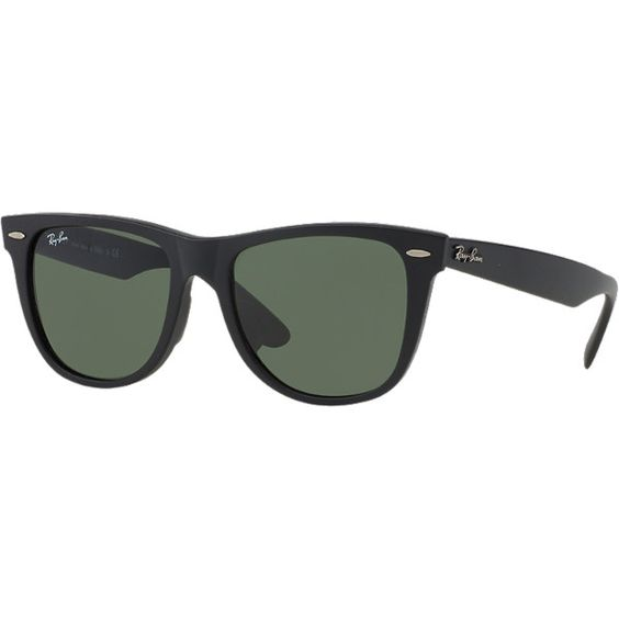Ray-Ban Rb2140f 52 Black Square Sunglasses ($150) ❤ liked on Polyvore featuring accessories, eyewear, sunglasses, black, wayfarer glasses, black wayfarer sunglasses, ray-ban, square sunglasses and black wayfarer glasses