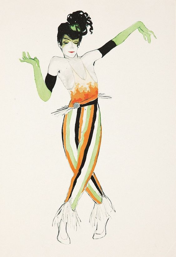 Ballet und Pantomime, Costume Design & Illustration, Published by Georg Müller Verlag, München, 1920 // by Walter Schafkenberg