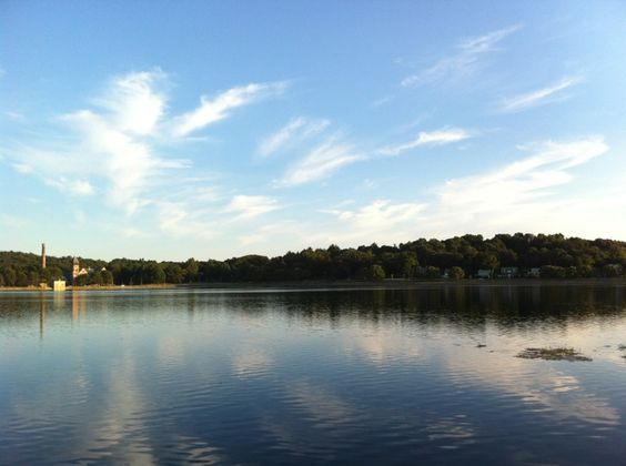 Chestnut Hill Reservoir in Boston, MA