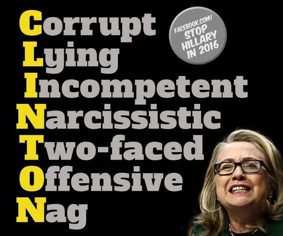 Image result for crooked hillary and narcissistic trump
