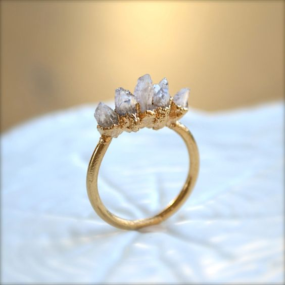 Amethyst Spike Gold Ring. $38.00, via http://www.downandoutchic.blogspot.com/2012/08/6-things.html