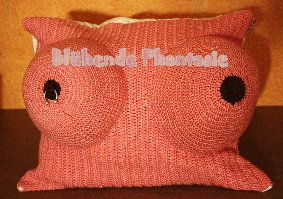 breast pillow with piercing
