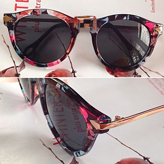 "Adorable Millifiore Frame Sunnies. New New smoky lens sunnies with a cool Italian Millifiore inspired frame in tasteful subdued colors. Arrowhead wraps around front of frames. So pretty and not everyone will own this particular version. Stand out!  Colors are black, gray, hint of light blue and light pink. Metal is a tasteful gold-tone. Lens size, including frame, measures 2 1/4"" by 2"".  Flattering to most face shapes. Save more when you bundle!!  Extremely well made and sturdy. Botique…"