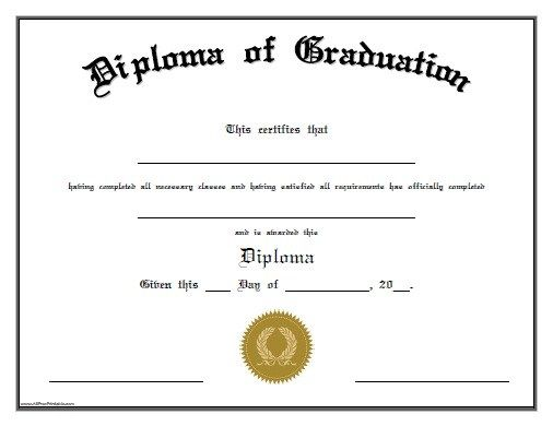 School Certificate Templates. middle school diploma free