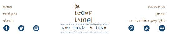 A Brown Table: See Taste Love