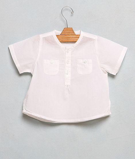 Camisa bb cuello mao blanca_Nícoli_20,95€