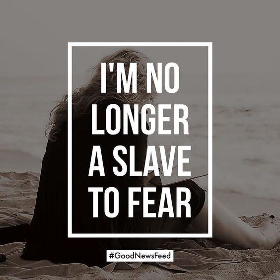 I'm no longer a slave to fear. @bethelmusic