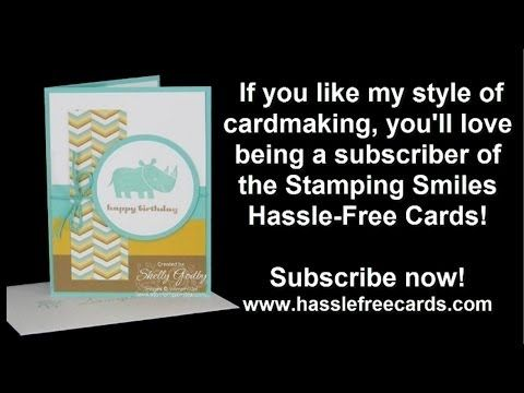 Make a 1st Year Birthday Card with Stampin' Up! Zoo Babies