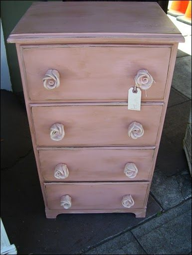 Dresser Vintage Girls Furniture Shabby Chic Furniture Rose Knob Drawer