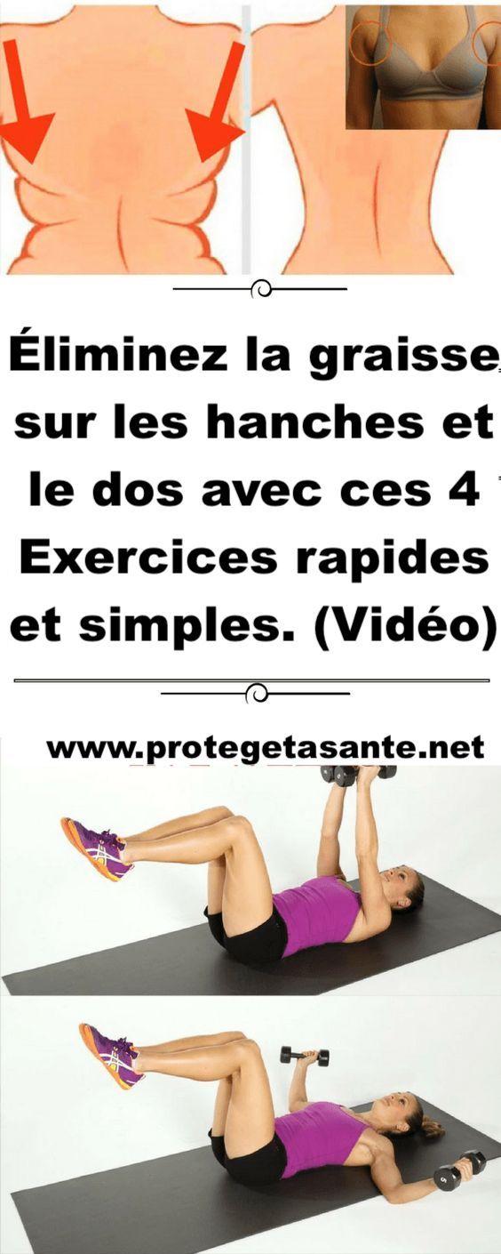 Eliminez La Graisse Sur Les Hanches Et Le Dos Avec Ces 4 Exercices Rapides Et Simples Video Fitness Body Fitness Summer Body