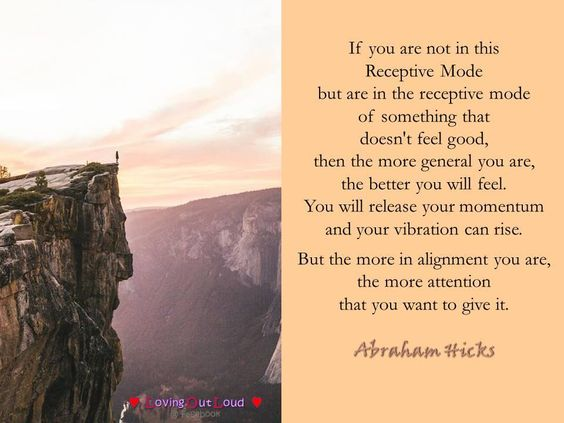 If you are not in this Receptive Mode but are in the receptive mode of…
