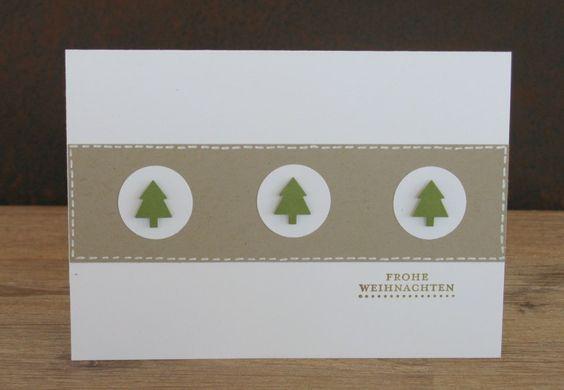 zeit-zum-basteln.de - Fake Nähen mit uni Ball Signo Stift - schnell Weihnachtskarte