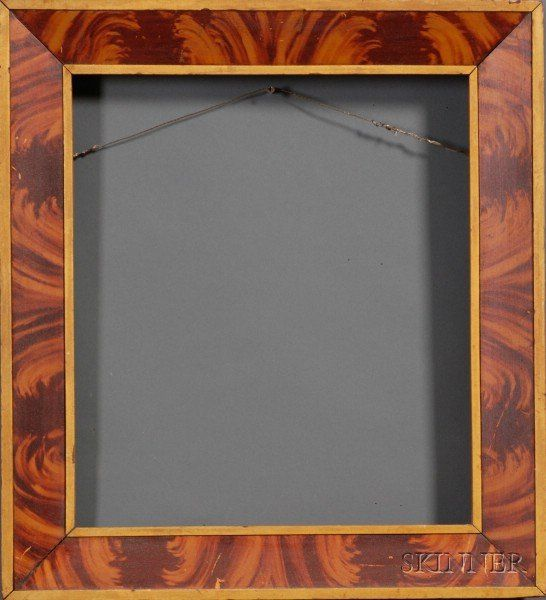 painted wood picture frames. Grain Painted Wooden Frame, America, Early 19th Century, With Mustard Color Borders, 21 7/8 X 20 In., Aperture 16 3/8 14 In. Wood Picture Frames S