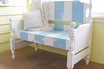 bench made from twin bed frame