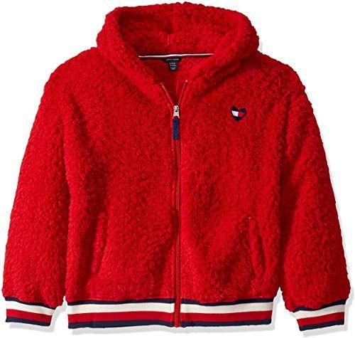 Enjoy Exclusive For Tommy Hilfiger Girls Full Zip Fuzzy Jacket Online Looknewfashion Tommy Hilfiger Girl Fuzzy Jacket Girls Jacket