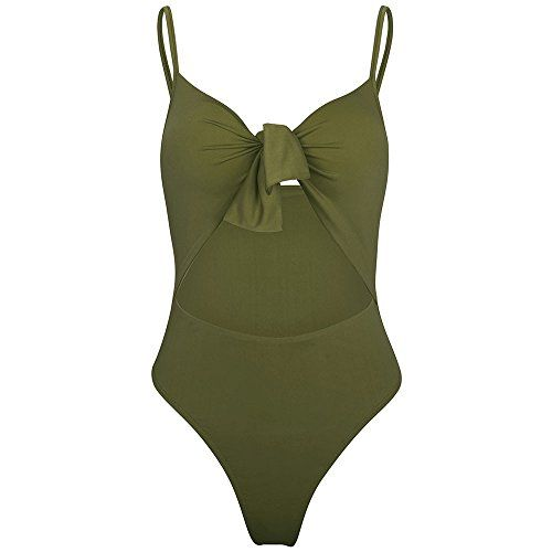 High Waist Swimwear Print Push Up Padded One Piece Bikini HHmei Women Hollow Swimsuits