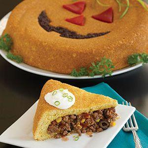 Jack-o'-Lantern Tamale Bake