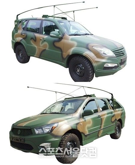 Ssangyong has come up with the defense versions of the Rexton W, the Korando C and Korando Sport.  December 2012.