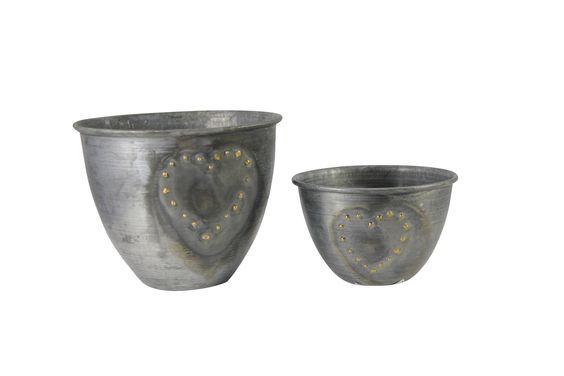 Zincato cups with brass cutting heart www.earlysettler.com.au
