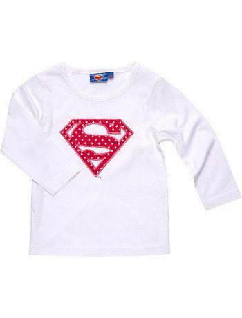 Tee-shirt 'Superman'                                                                                         blanc 5.99e kiabi