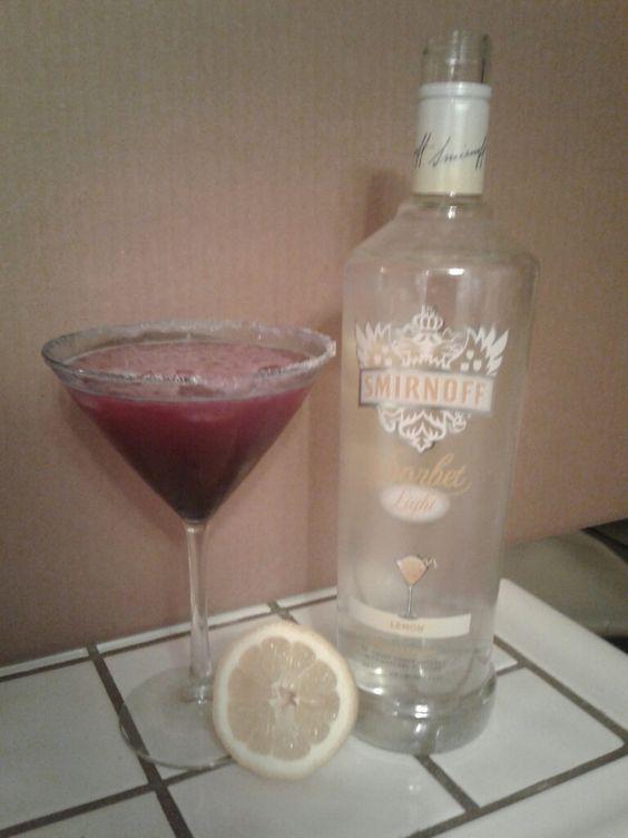 Blueberry  lemon drop martinis