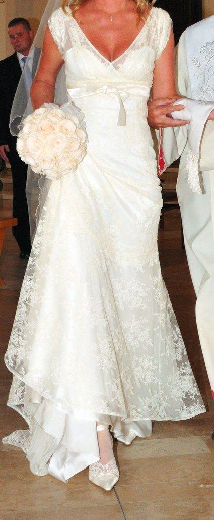 Robe de mariée CYMBELINE, taille 38,couleur écru, nettoyée, état ...