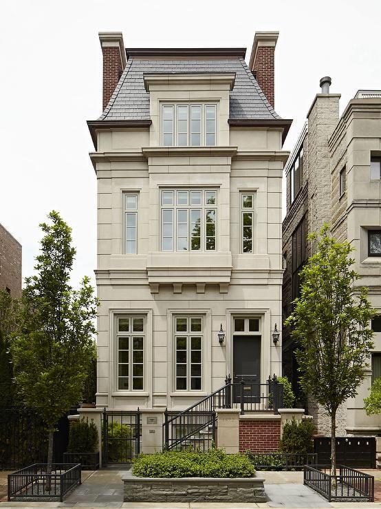 gray mansard roof