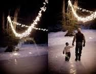 Image result for backyard party in winter