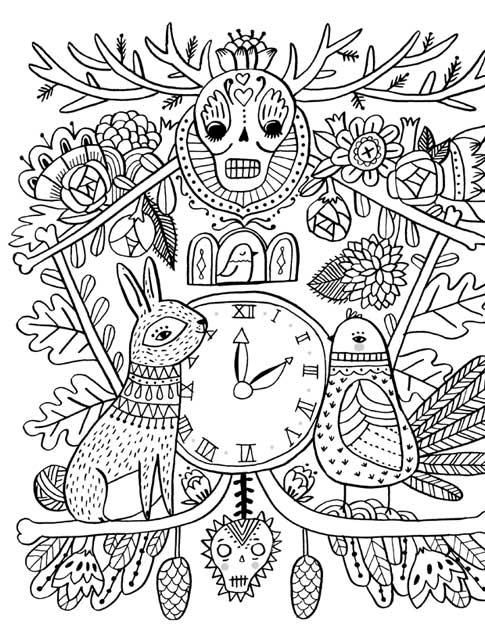 mexican folk art coloring pages - photo#18