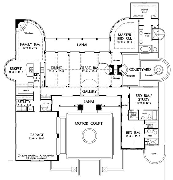 Luxurious hacienda style home plans awesome hacienda for Mexican hacienda floor plans