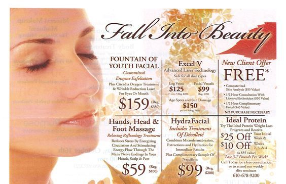 Spa At Spring Ridge Fall Specials And Treatments Medspa Wyomissing Circadia Skincare Spa Treatyourself Spa Specials Aesthetic Clinic Skin Care Treatments