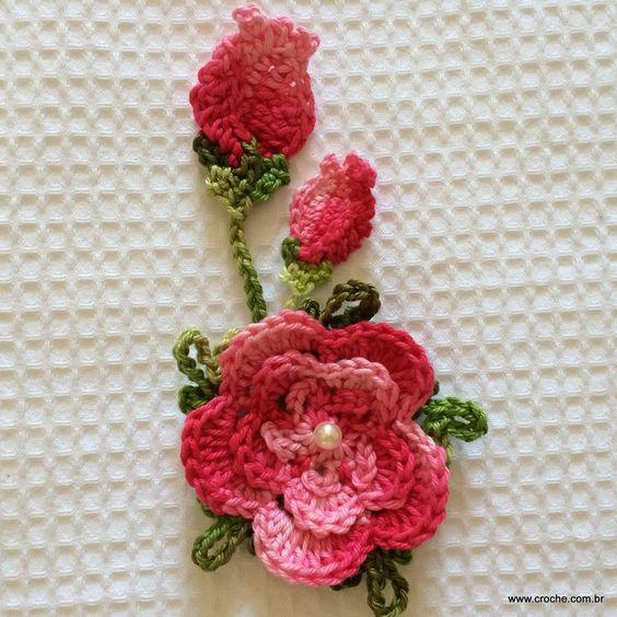 Flor para aplica es passo a passo for Rosa weiay gestreifte tapete