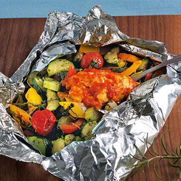 Back-Feta mit Gemüse Rezept | Küchengötter